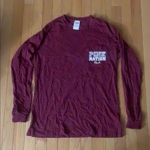 Girls Pink nation long sleeve shirt